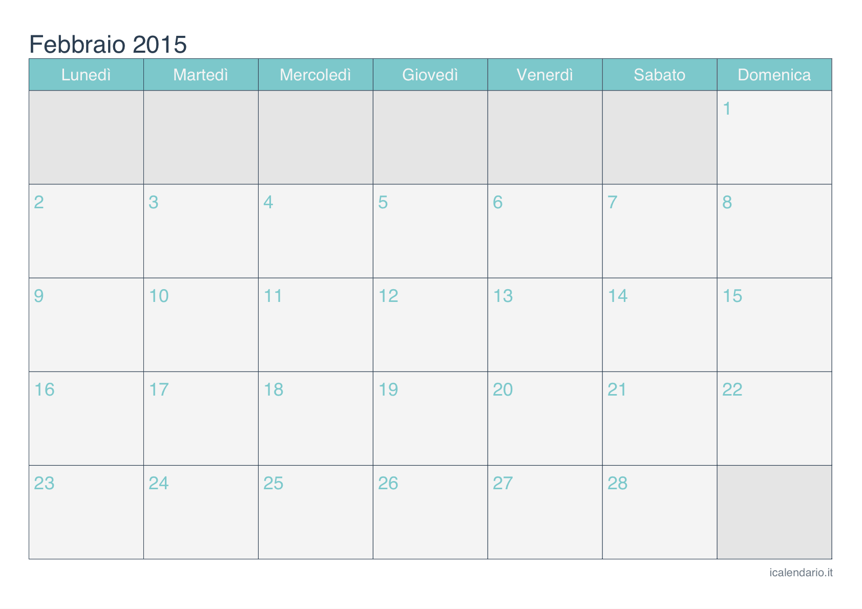 Calendario 2015 Da Stampare Pictures to pin on Pinterest