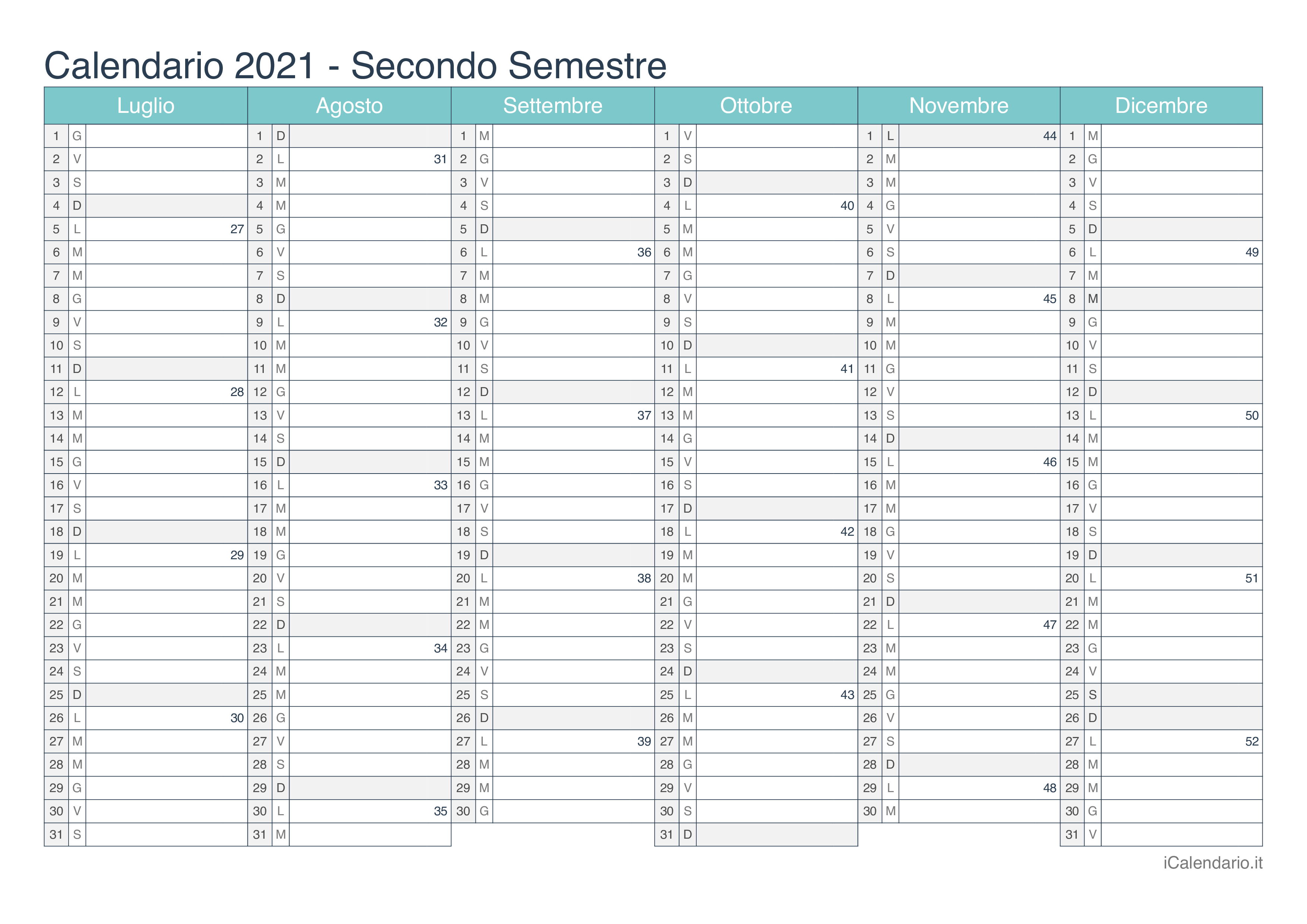 Calendario 2021 da stampare   iCalendario.it